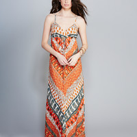 Ethereal Gypsy Print Maxi Dress   Wet Seal