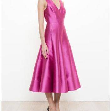 NATASHA ZINKO | Satin Midi Dress | brownsfashion.com | The Finest Edit of Luxury Fashion | Clothes, Shoes, Bags and Accessories for Men & Women