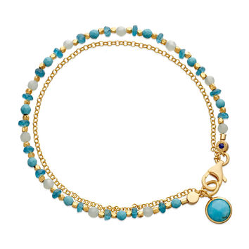 Be Very Cool Blue Beaded Friendship Bracelet - Astley Clarke