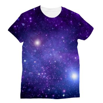 Light Purple Starry Galaxy AWDis Sublimation T-Shirt