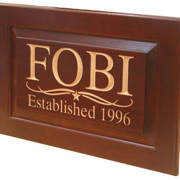 BUSINESS SIGN Custom Sign Carved Wooden by BenchMarkCustomSigns f