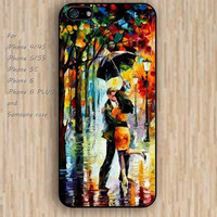 iPhone 5s 6 case colorful Oil painting kiss in the rain phone case iphone case,ipod case,samsung galaxy case available plastic rubber case waterproof B400