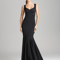 Zac Posen Gown - Jersey Sleeveless Open Back