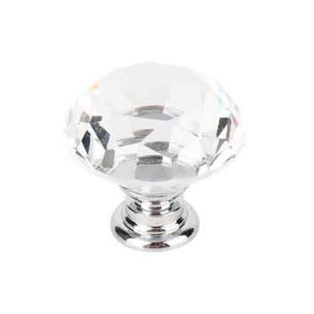 STYLEDOME Beauty Crystal Clear Glass Cabinet Dresser Wardrobe Pull Handle Knobs