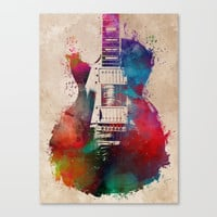 guitar art #guitar Canvas Print by jbjart