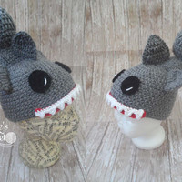 Crochet Shark Bite Hat