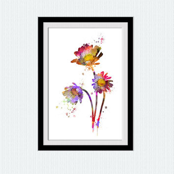 Flower print Flower poster Flower wall art Botanical art print Home decoration Living room decor Kids room wall art Botanical poster W552