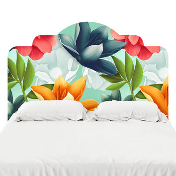 Hawaiian Blooms Headboard Decal