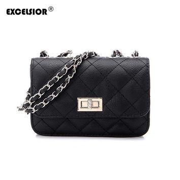 EXCELSIOR Women Messenger Bag Crossbody Chain Shoulder Bags Women Designers Brand Handbags High Quality Leather Bags Tote