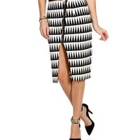 Sale-triangle Midi Pencil Skirt