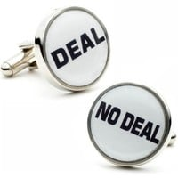 Deal No Deal Casino Game Cufflinks Dealmaker