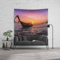 Longtail Sunset Wall Tapestry by nicklasgustafsson