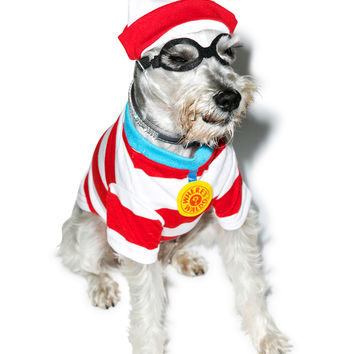 Where's Fido Dog Costume STRIPE One