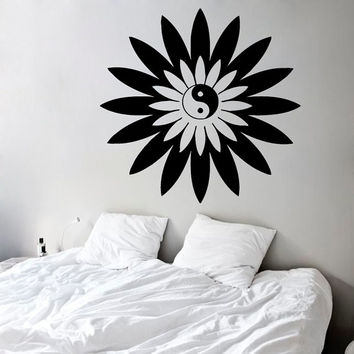 Flower Wall Decals Indian Mandala Pattern Om Sign Decor Amulet Protection Decal Home Vinyl Decal Sticker Kids Nursery Baby Room Decor kk759