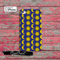 Sun And Moon Pattern Blue And Yellow Cute Tumblr Inspired iPhone 4 and 4s Case and iPhone 5 and 5s and 5c Case iPhone 6 and 6 Plus +