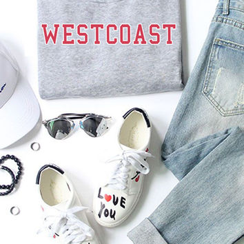 Westcoast Sweatshirt - Baseball Shirt - Tumblr - 90s - California - Hip hop - Rapper rap - Aesthetics - Vintage - Grunge - Vaporwave