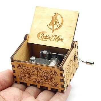 New Wood Music Box Sailor Moon  Davy Jones Beauty And The Beast Castle In The Sky Godfather Star War Christmas Gift