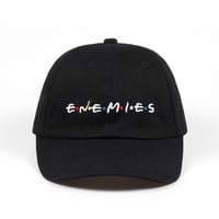 Trendy Winter Jacket 100% Cotton Embroidery ENEMIES Baseball Cap Dad Hat Bone casquette Hat Snapback Caps Wearing Fitted Hat For Men Custom Hats AT_92_12