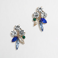 FACTORY CRYSTAL FEATHER STUD EARRINGS