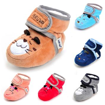 1pair Newborn Winner Frist Walkers Baby Infant Baby Boy Girl Cartoon Crib Shoes Soft Sole Anti-slip Boot