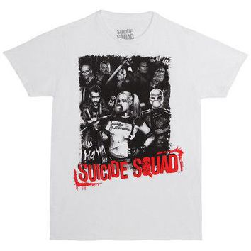 Suicide Squad Group Shot Logo DC Comics Licensed Adult Unisex T-Shirt - XL