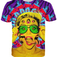 Miley Cyrus Psychedelic T-Shirt