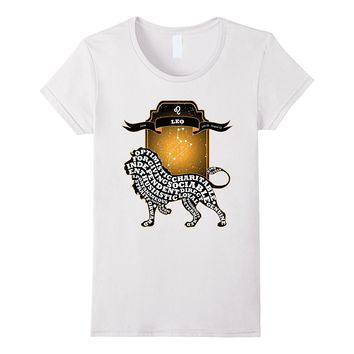 Leo Star Constellation and Lion - Birthday Gift T-Shirt