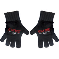 Guns N Roses Logo & Pistols Knit Gloves Black