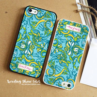 Tri Delta-Lilly Pulitzer iPhone Case Cover for iPhone 6 6 Plus 5s 5 5c 4s 4 Case