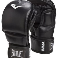 Everlast Train Advanced MMA 7-Ounce Striking / Training Gloves (Black, Large / X-Large)
