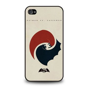 SUPERMAN VS BATMAN YIN YANG iPhone 4 / 4S Case Cover