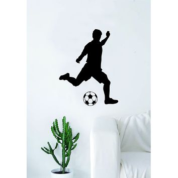 Soccer Player V2 Wall Decal Sticker Art Vinyl Home Decor Living Room Bedroom Sports Futbol Fifa Ball Kick Goalie