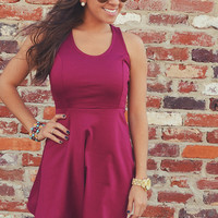 It's All For You Dress: Burgundy