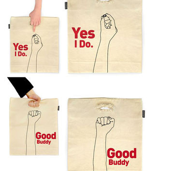 Creative Canvas Shopping Bag