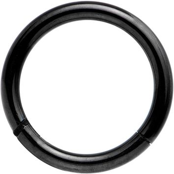 "14 Gauge 3/8"" Black Anodized Hinged Segment Ring Circular Barbell"