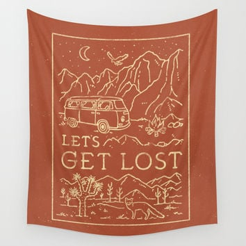 Let's Get Lost Wall Tapestry by WEAREYAWN