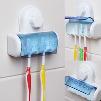 Toothbrush Spinbrush Suction Holder Wall Mount Stand Rack Home Bathroom