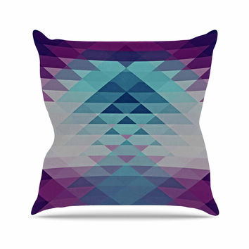 "Nika Martinez ""Hipster Girl"" Blue Lavender Outdoor Throw Pillow"