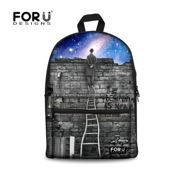Cool Backpack school Unique 3D Galaxy Star Universe Space Backpack for Women Cool Teenage Girls Backbag Children Kids Canvas School Bagpack AT_52_3