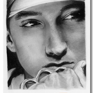 Custom Canvas Wall Murals Eminem Poster Eminem Rap God Stickers Office Decals Music Wallpapers Cafe Bar Wall Paintings #0076#