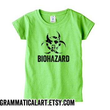 Science Kid Shirt Biohazard Green Tee Geekery Pink Shirt Chemistry Biology Biochemistry Lab Science Shirt for Kids