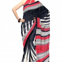 UNM6035- Mind blowing corporate black pure Pashmina silk saree