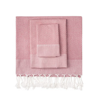 Dark Rose Honeycomb Turkish Peshtemal Towel