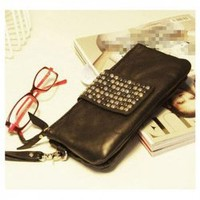 New Arrival Laconic Stud Agraffe and Zipper Design Bag For Female