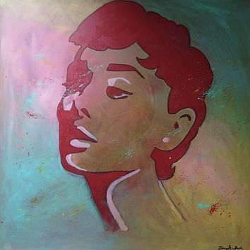 """""""A. H."""" by Fiona Skei Bech, Acrylic on Canvas"""