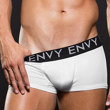 Micro Lowrise White Elastic Waist Trunk in L/XL