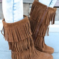 The Tan Moccasin Boot