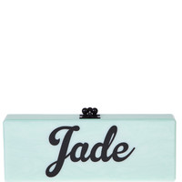 Flavia Customizable Clutch In Mint by Edie Parker - Moda Operandi