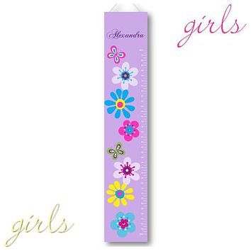Kids Growth Charts - Personalized Lilac Blooms