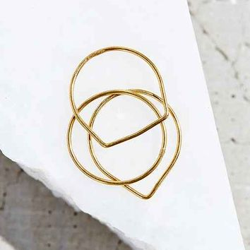 18k Gold Plated Layering Ring Set